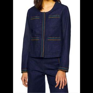 United Colors Benetton Jean Jacket Embroidered S